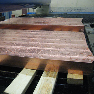 Water Jet Cut Copper