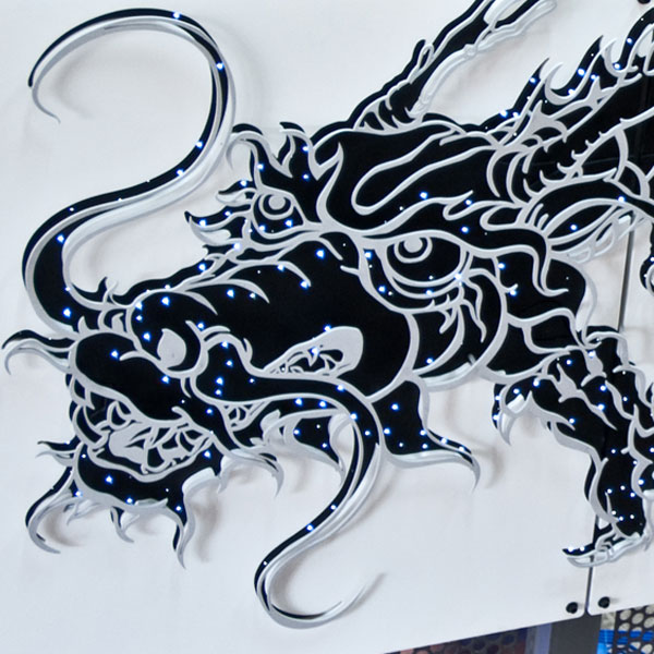 Metal Cut Dragon