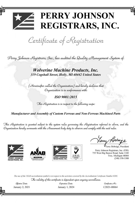 2020 12 16 ISO 9001 CERTIFICATION B&W